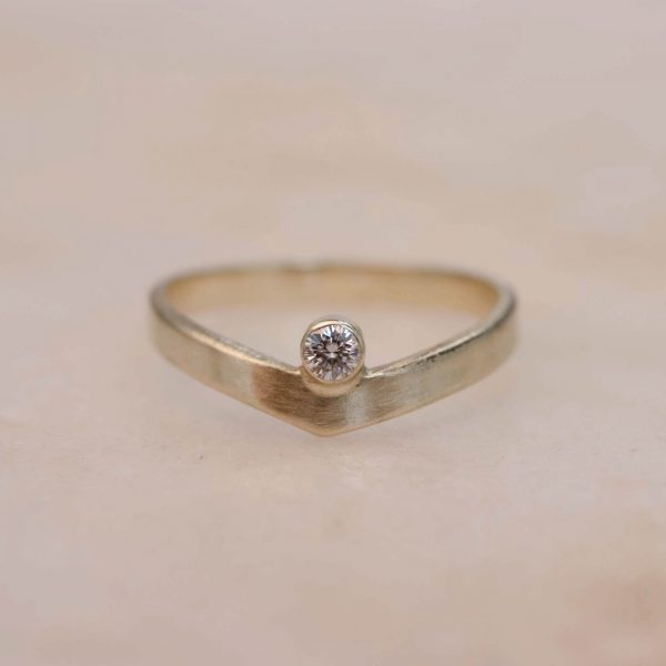 Contour Diamond Ring - 14k Gold 2