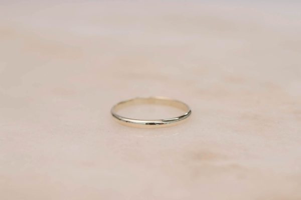 Half Rounded Ring 14k Gold
