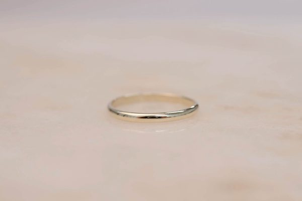 Half Rounded Ring - 14k Gold