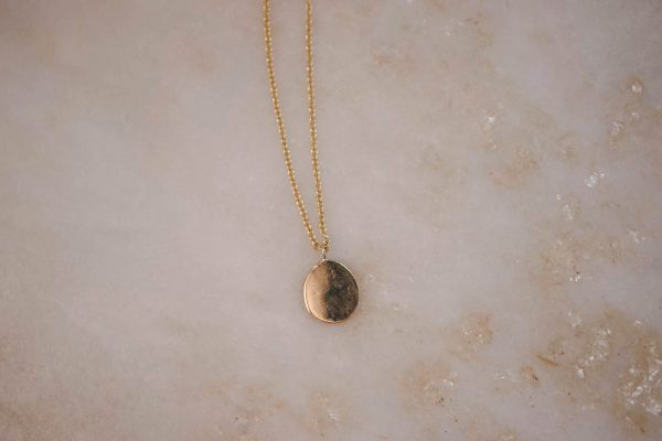 Necklace-with-Organic-Pendant-14k-Gold-2