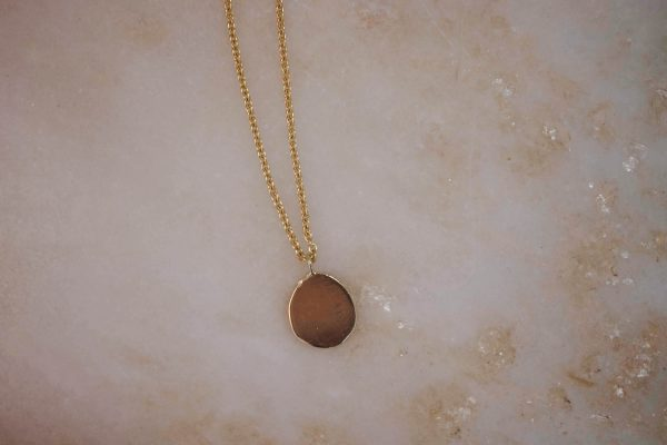 Necklace-with-Organic-Pendant-14k-Gold 3