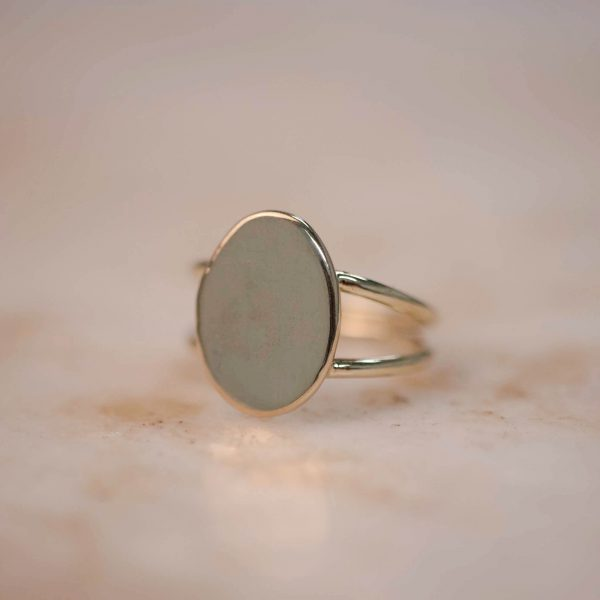 Organic Double Signet Ring 1.1
