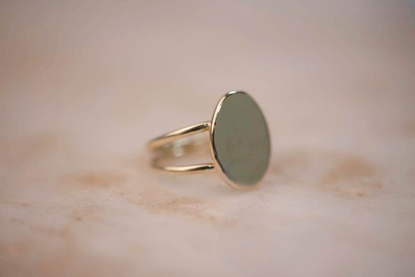 Organic Double Signet Ring 1.3