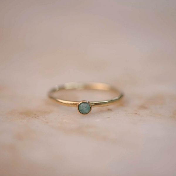 Ring Amazonite 3 mm - Brass & Silver 1