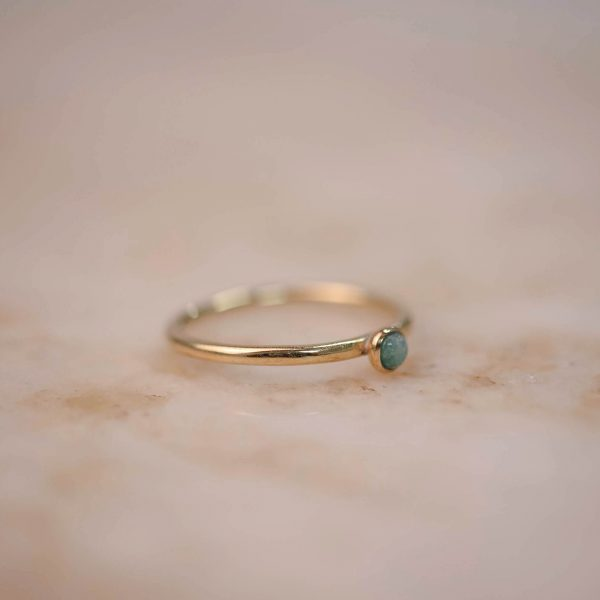 Ring Amazonite 3 mm - Brass & Silver 2