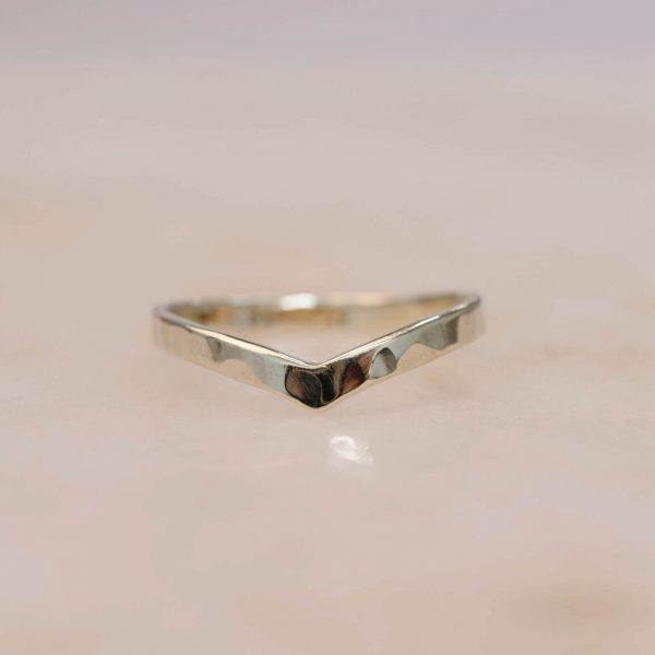 Structured Contour Ring - 14k Gold 2