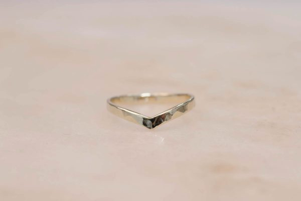 Structured Contour Ring - 14k Gold