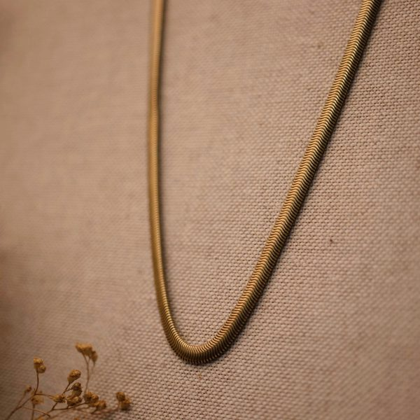 Vintage Flat Snake Necklace