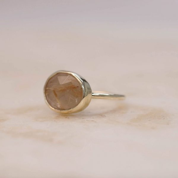 Golden Rutile Quartz - 14k Gold 2