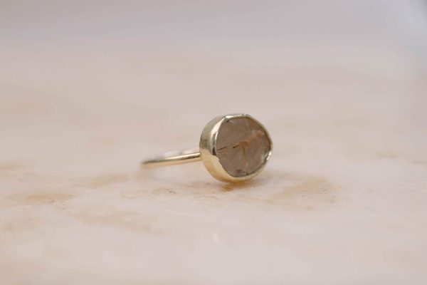 Golden Rutile Quartz - 14k Gold 3