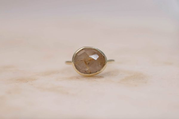 Golden Rutile Quartz - 14k Gold