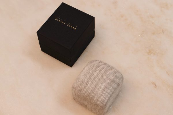 bobini roots and Linnen Ring Box - Single Ring 2