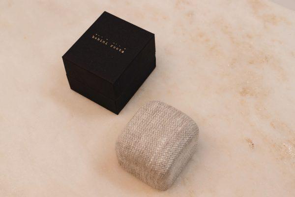 bobini roots and Linnen Ring Box - Single Ring