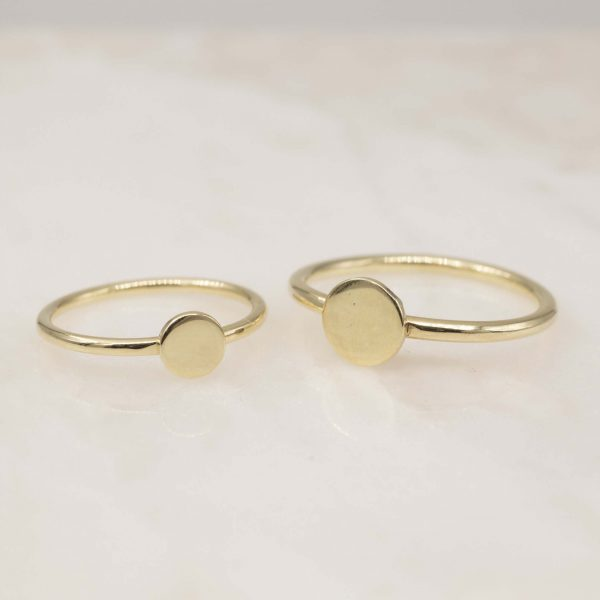 disc ring 3 sizes 14k goud - bobini roots
