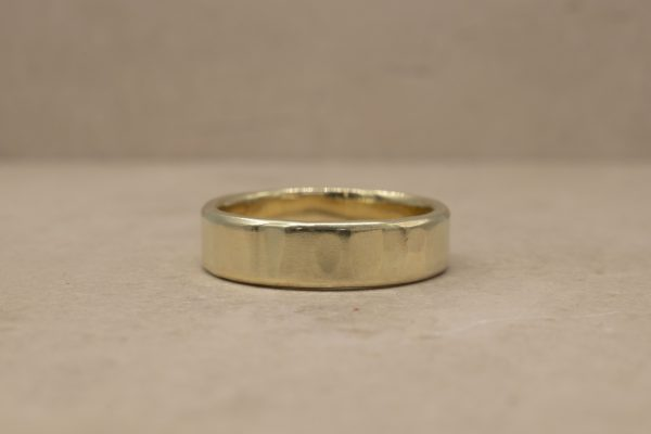 5 mm (Subtle) Organically Hammered Ring