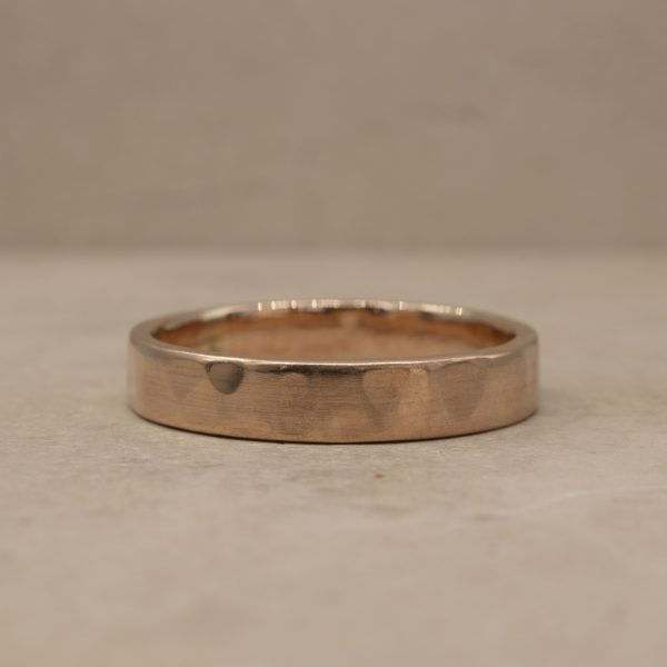 4 mm Organically Hammered Ring
